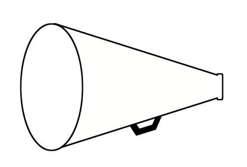 small resolution of cheer megaphone clipart black and white free 6