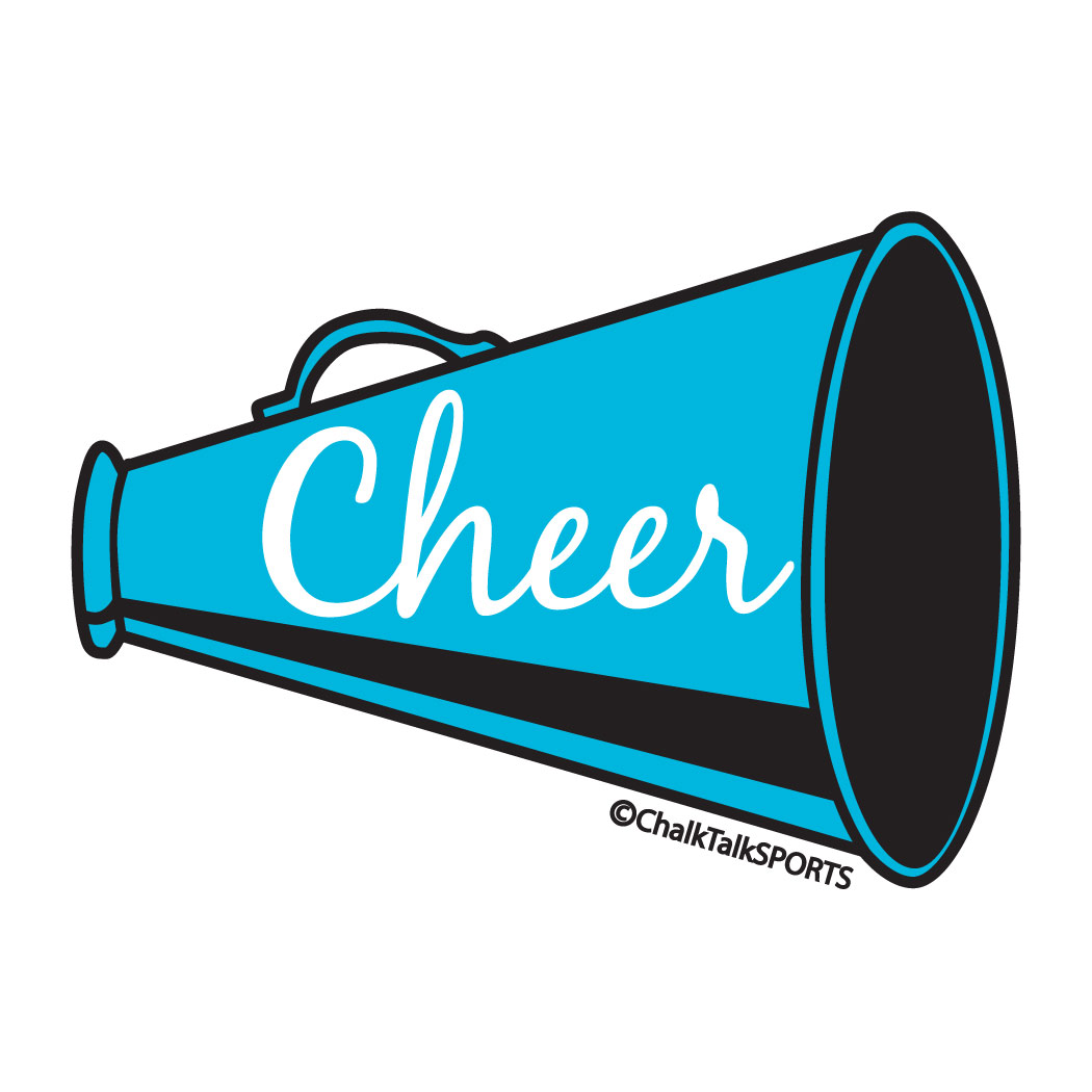 hight resolution of cheer megaphone clipart cheerleading free images 5