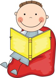 Child reading boy reading in bed clipart WikiClipArt