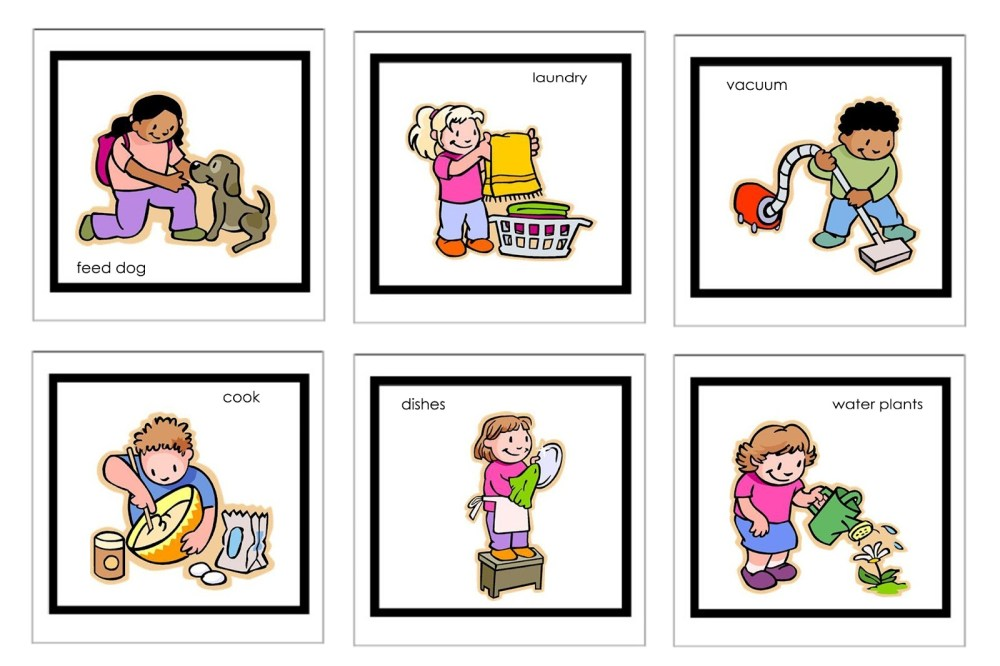 medium resolution of children doing household chores clipart