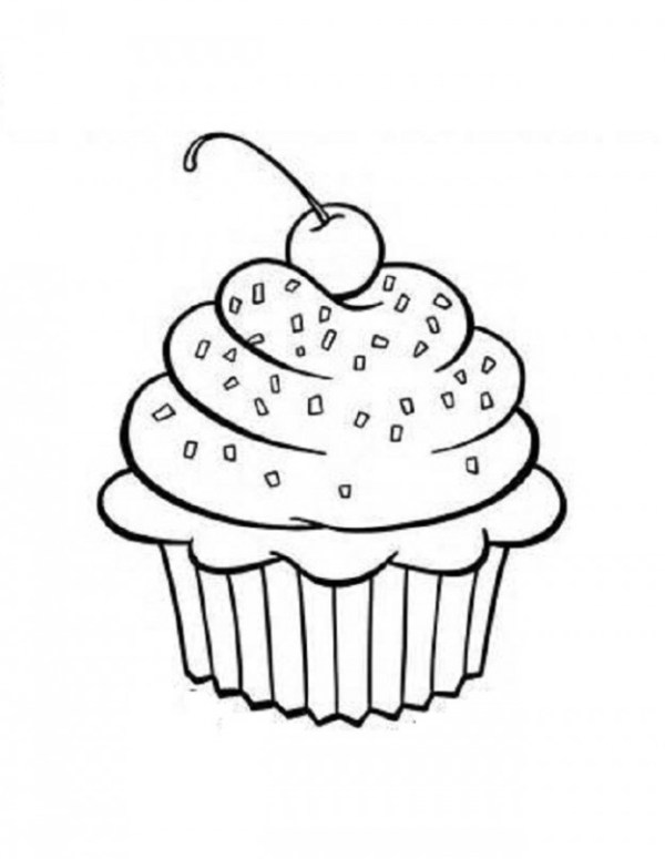 cupcake black and white 7