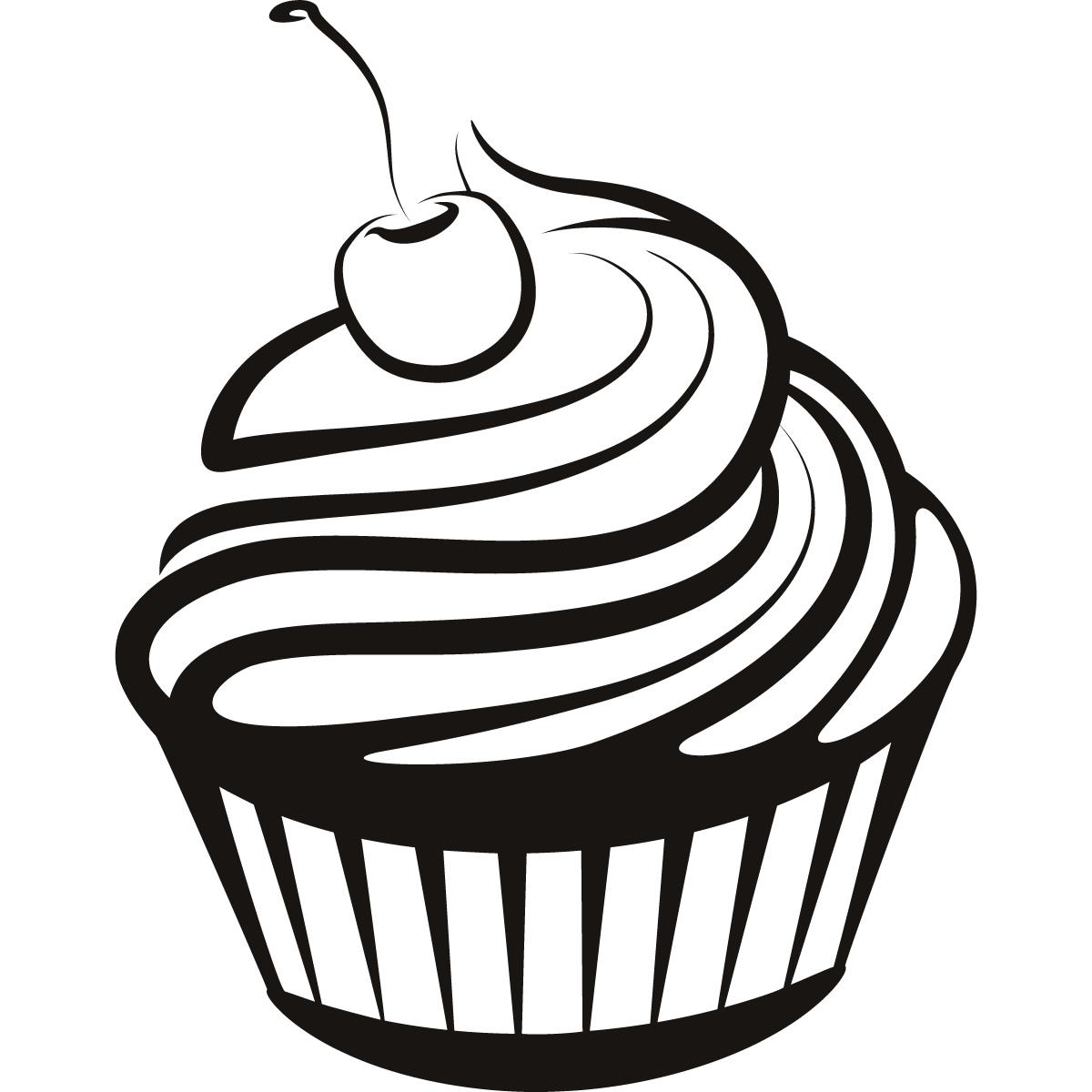 Cupcake Black And White Cupcake Drawings And Cupcakes
