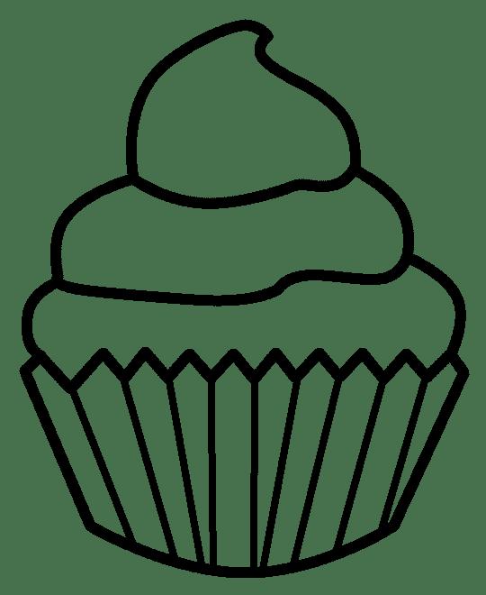 cupcake black and white