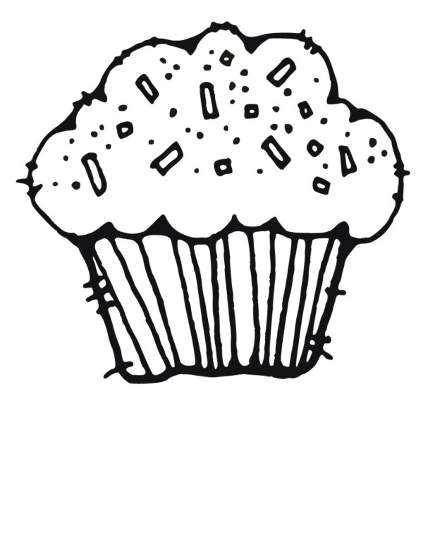 cupcake black and white cute
