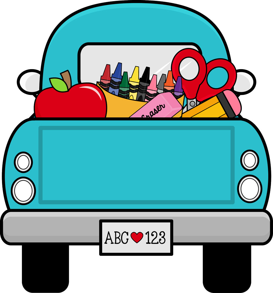hight resolution of grant avenue design truck full of school supplies clipart