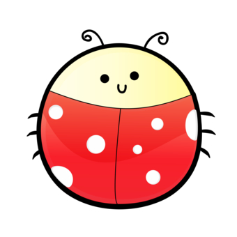 ladybug outline clipart coloring
