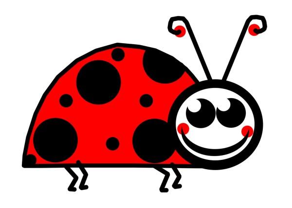 ladybug outline cute black