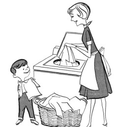 mother doing household chores clipart [ 932 x 1064 Pixel ]