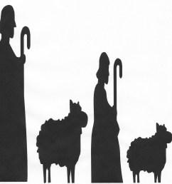 nativity silhouette free nativity scene pictures clipart [ 1600 x 1403 Pixel ]