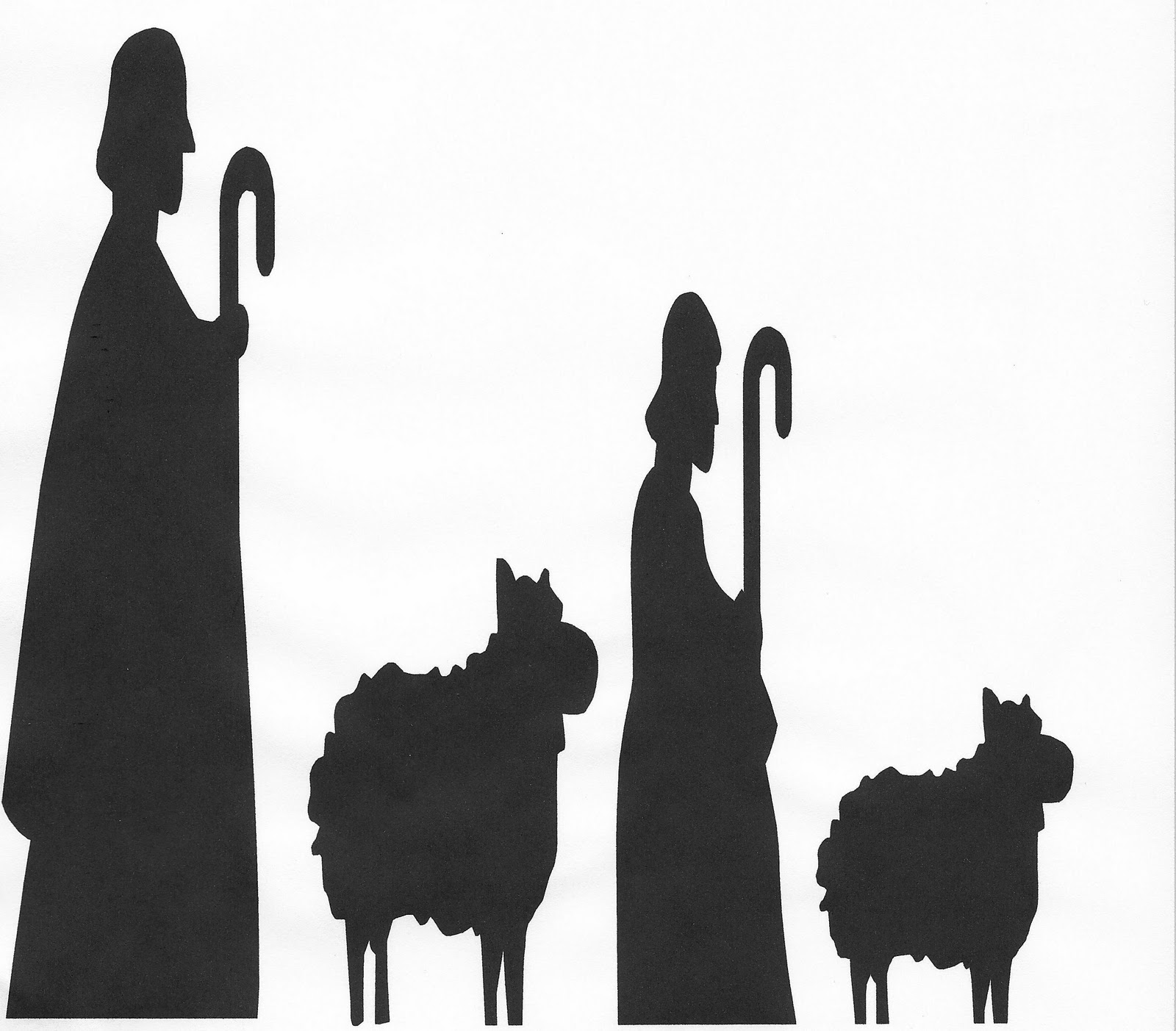 hight resolution of nativity silhouette free nativity scene pictures clipart