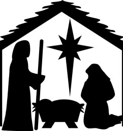 nativity silhouette free nativity silhouette clipart 2 [ 1251 x 1024 Pixel ]