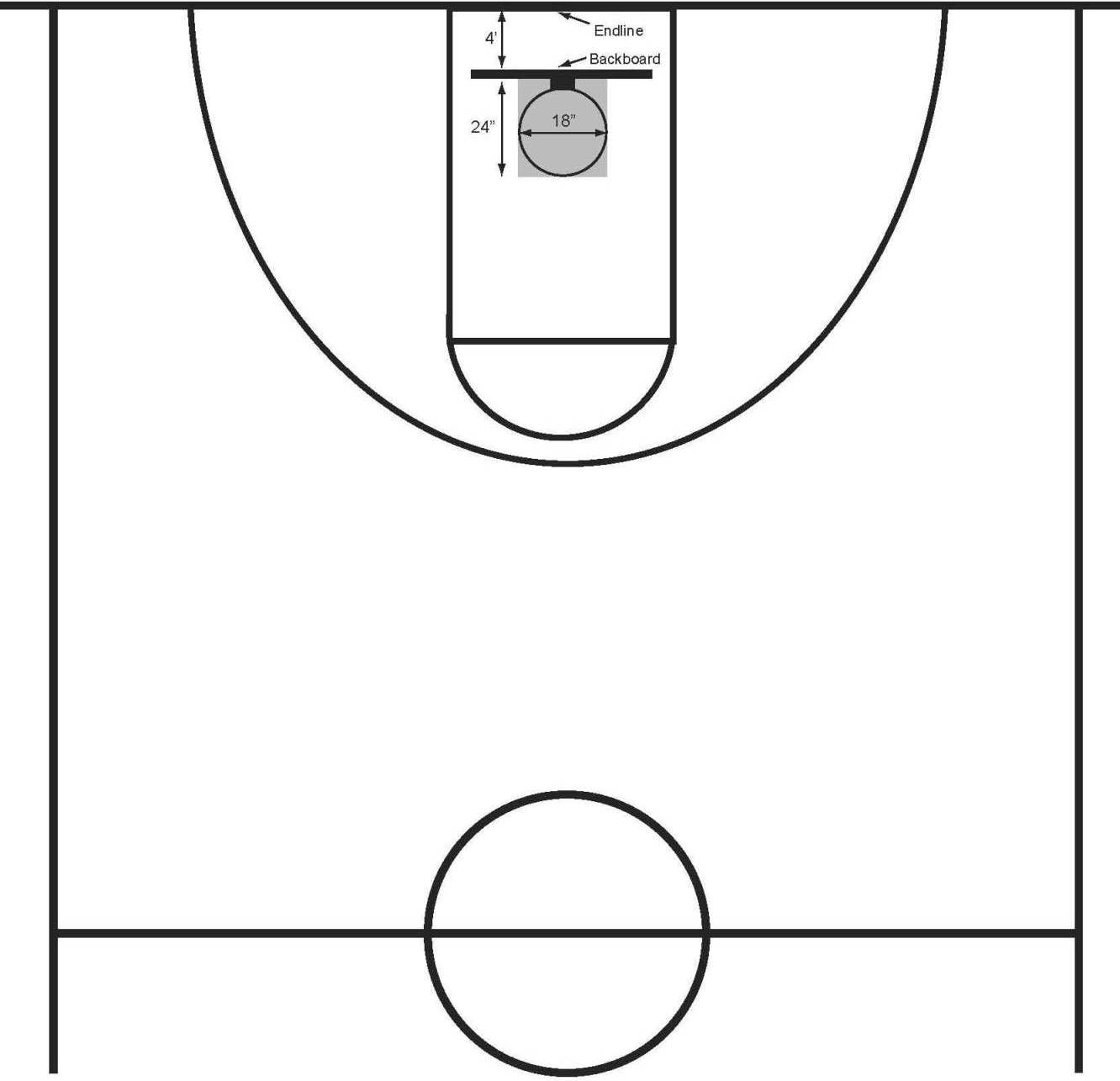 blank half court basketball diagram 2006 yfz 450 wiring printable clipart wikiclipart