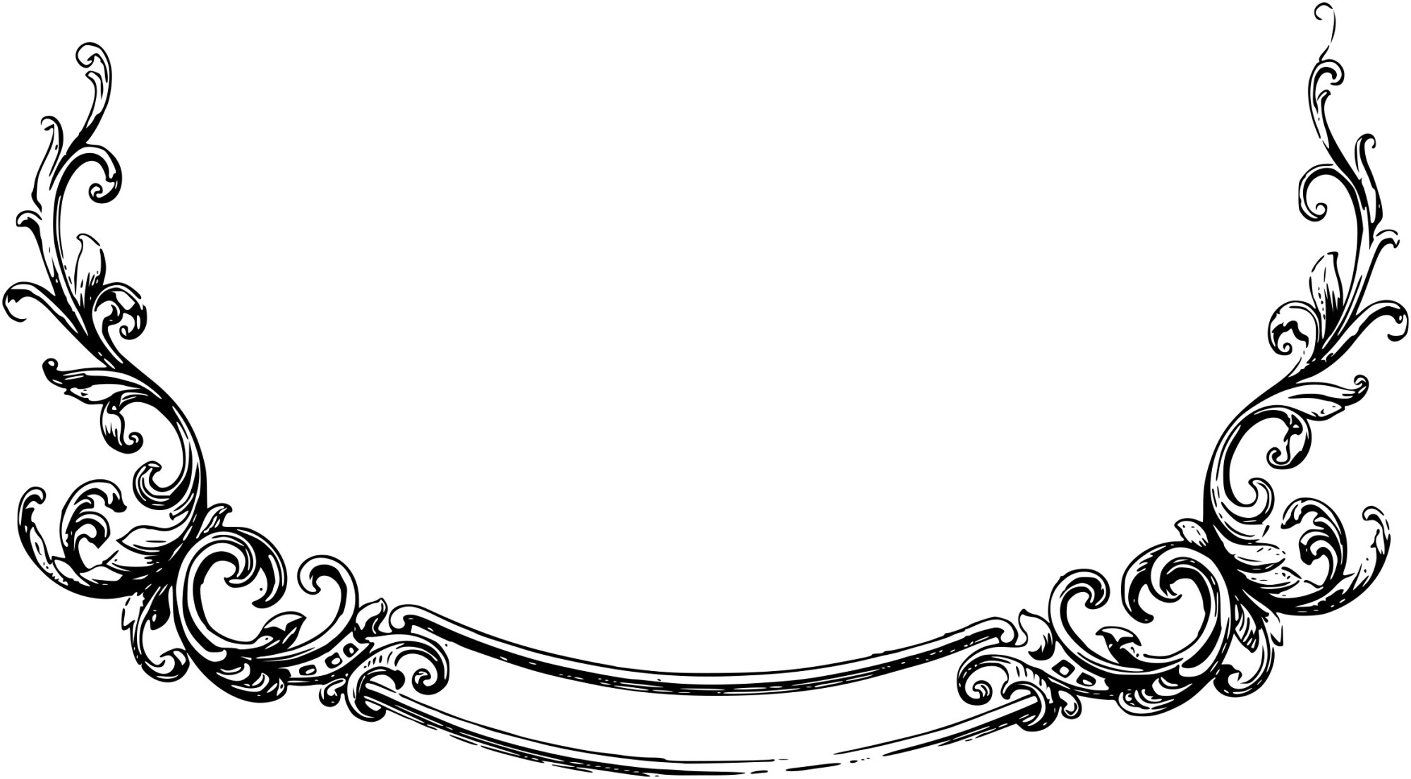 hight resolution of scrollwork scroll artwork clipart free