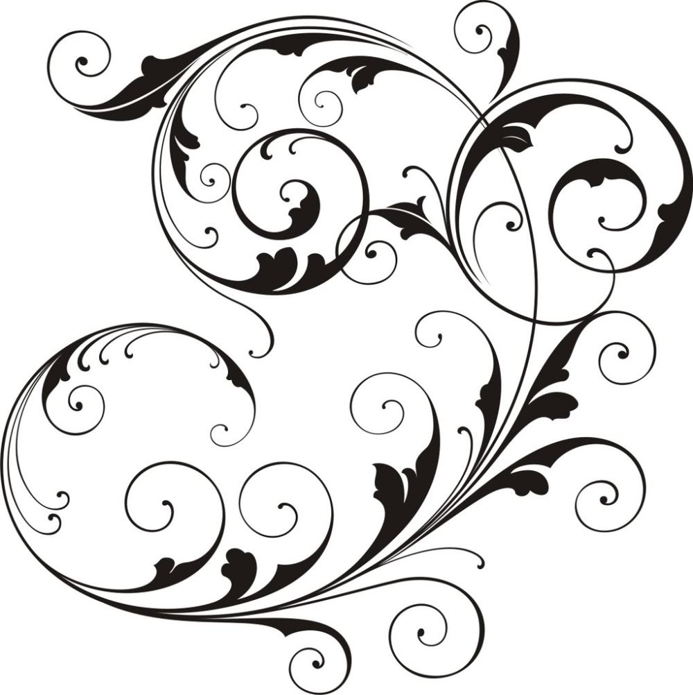 medium resolution of scrollwork simple scroll design clip art free clipart images