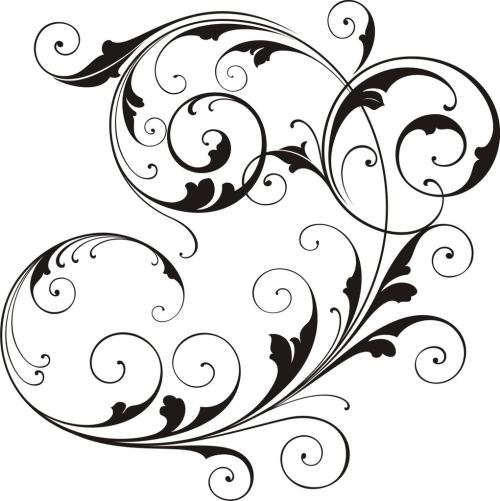 small resolution of scrollwork simple scroll design clip art free clipart images
