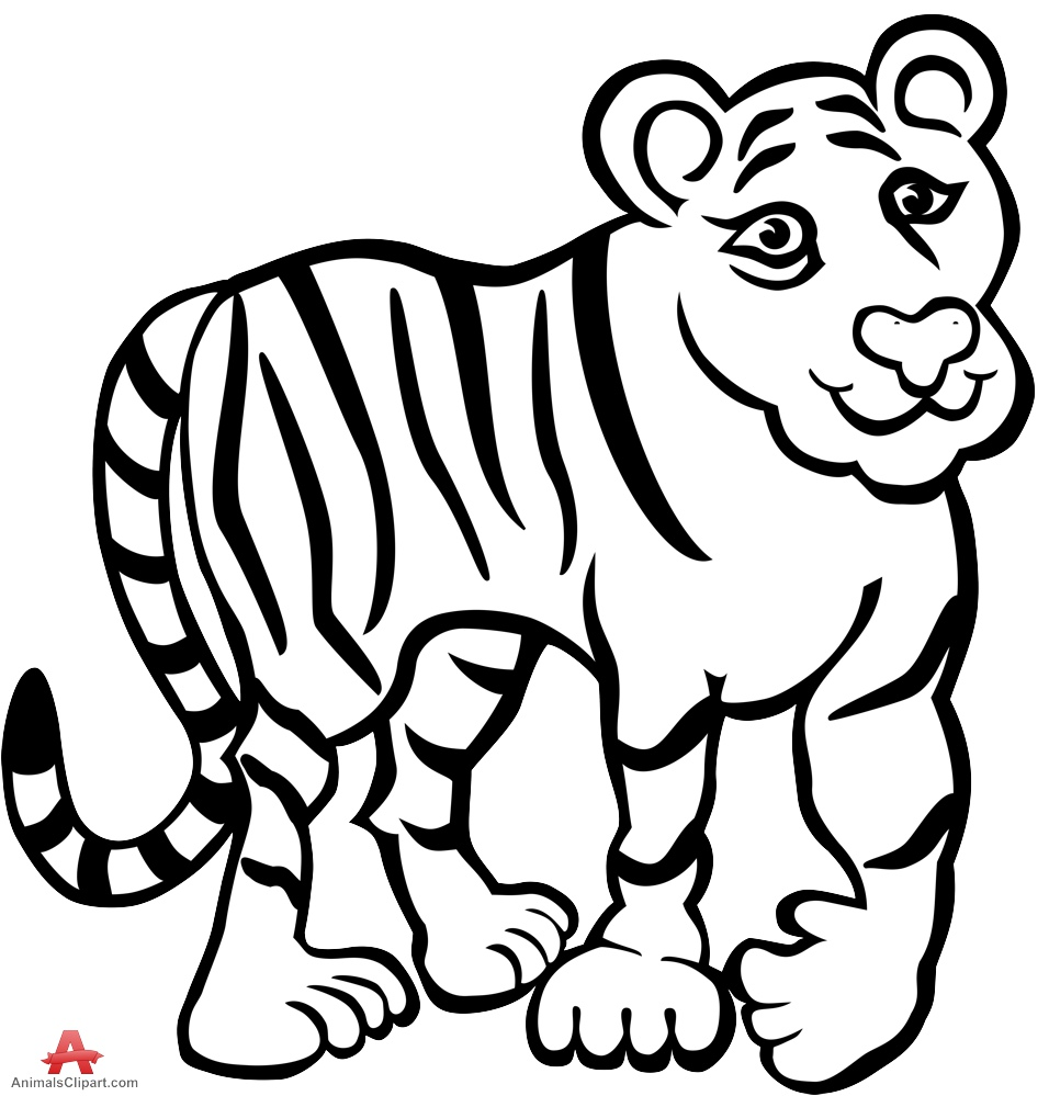 Tiger Black And White Tiger Clipart In Black And White Free Design Download Wikiclipart