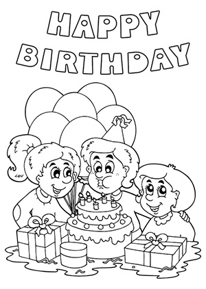 black and white birthday card printable