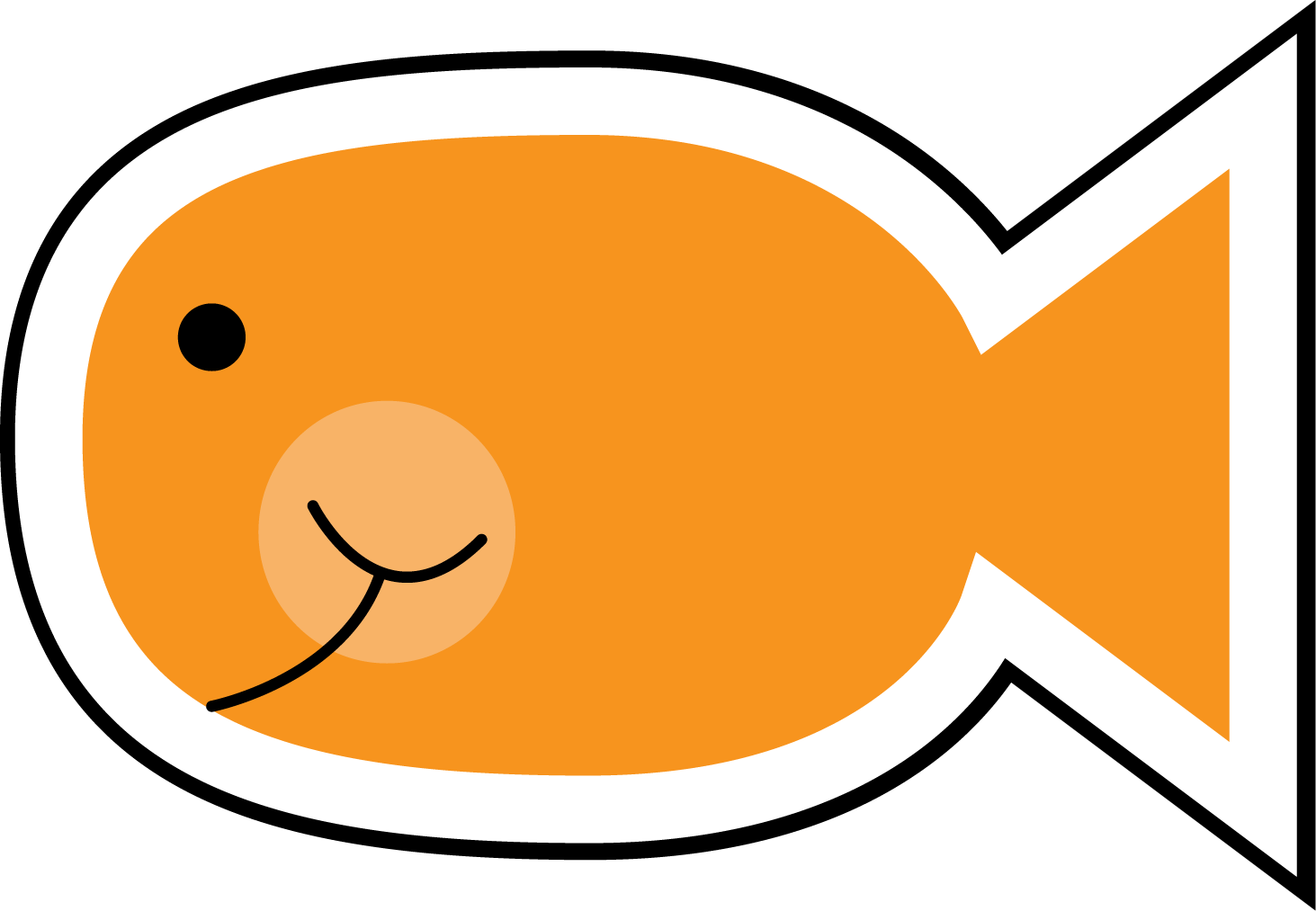 hight resolution of cute fish clip art black and white free clipart