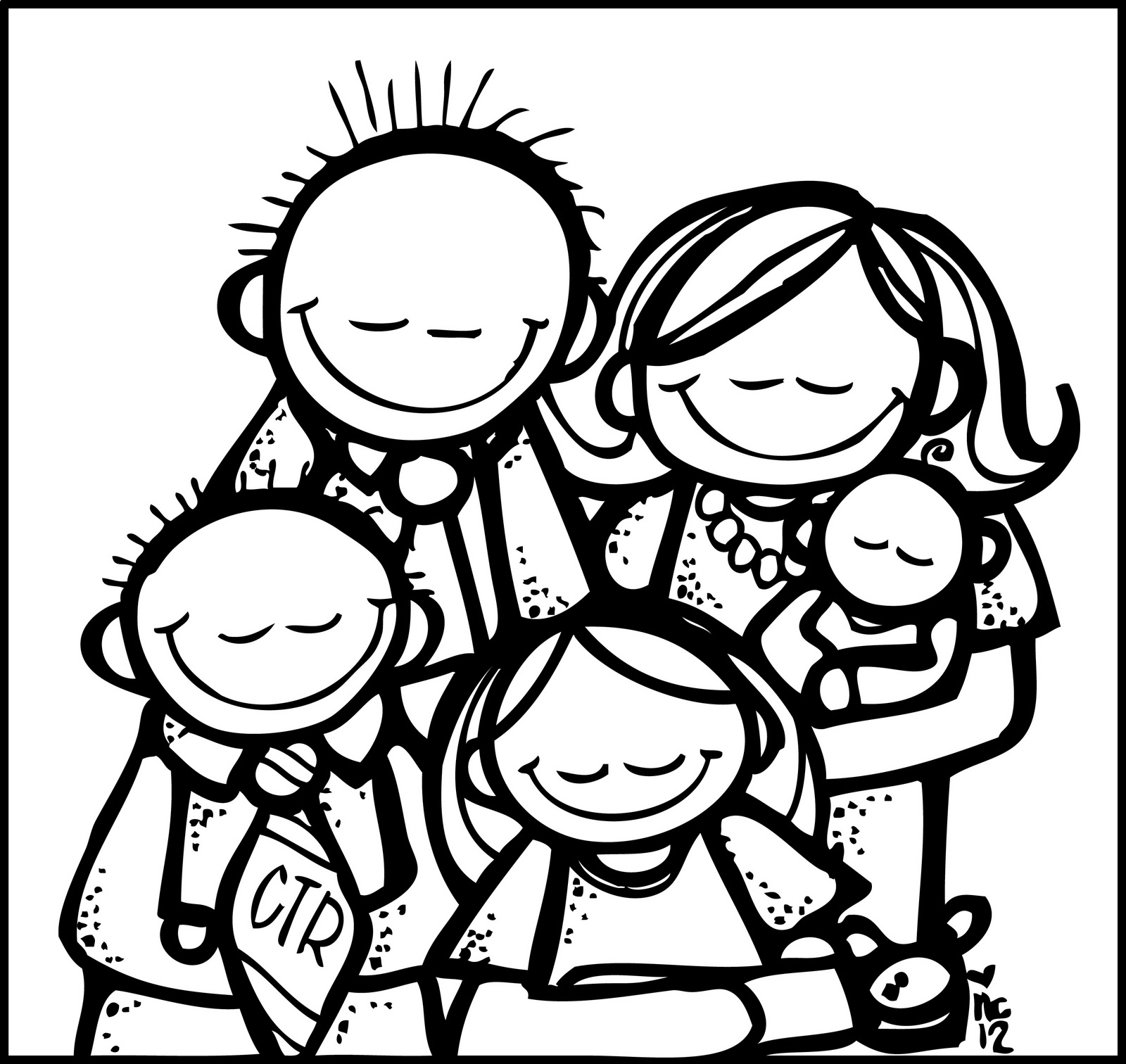 hight resolution of family black and white black family praying clipart
