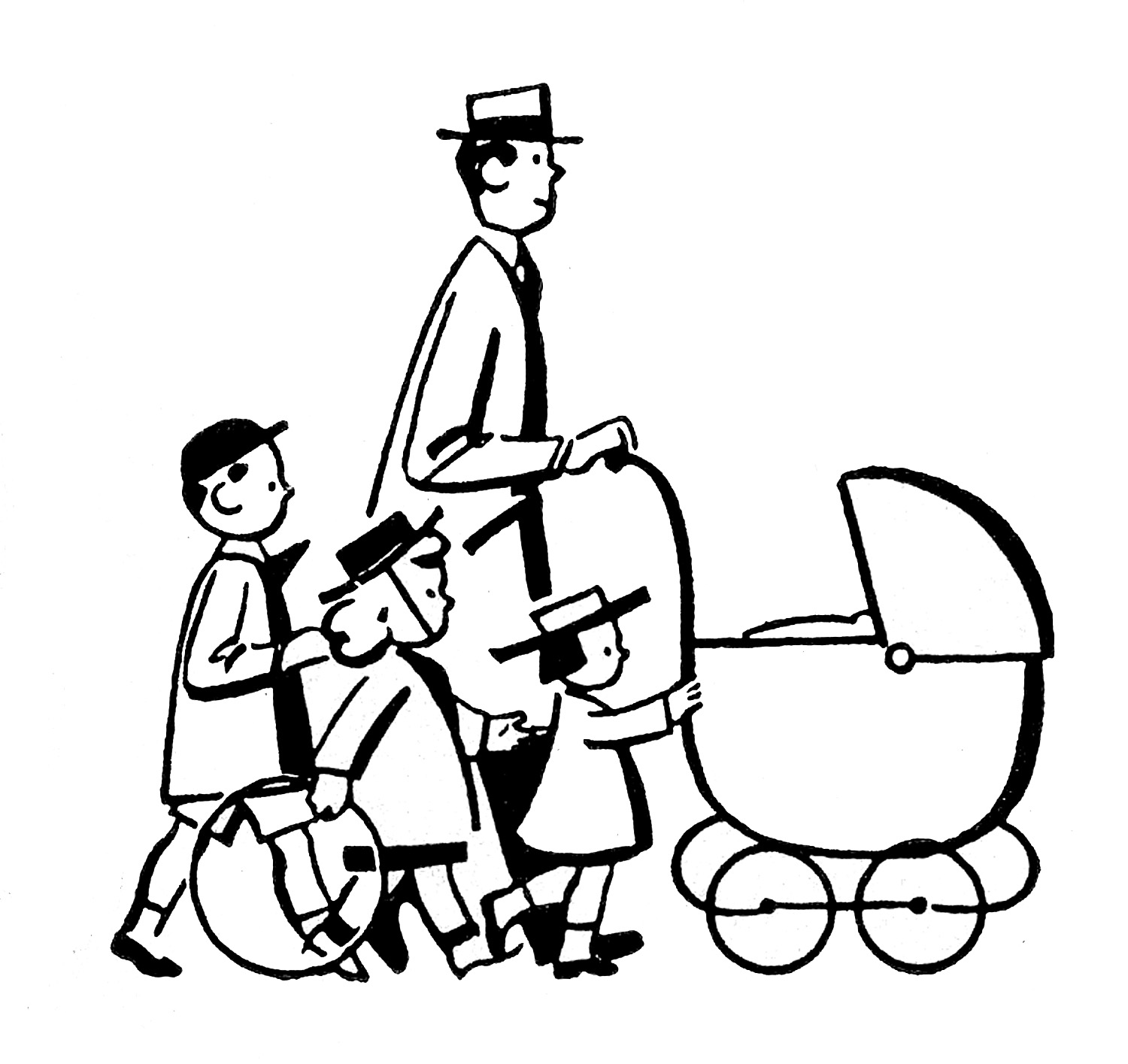 hight resolution of family black and white family black and white clipart 4