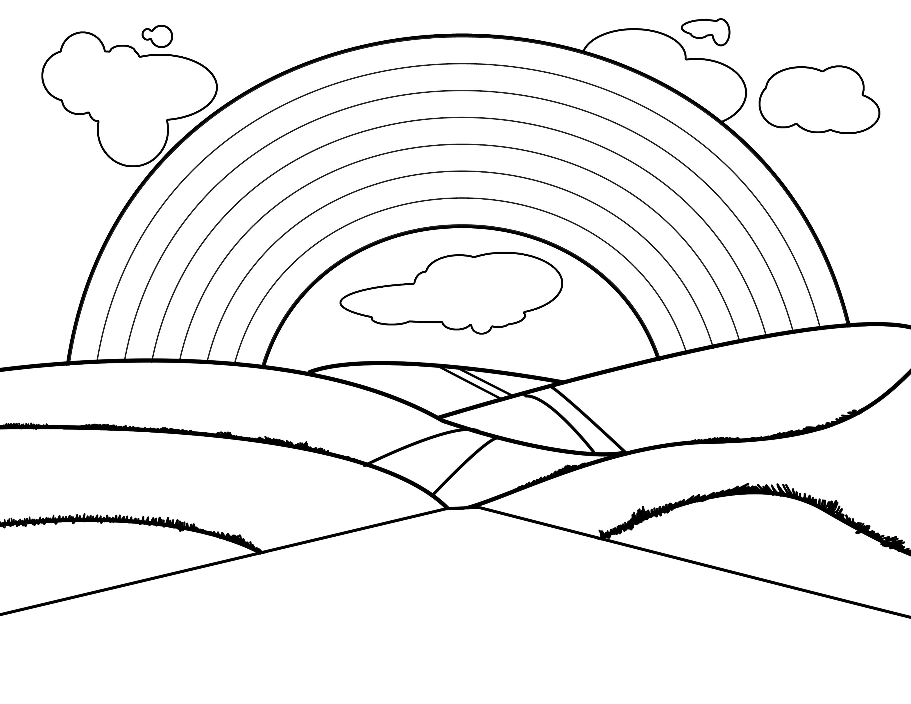 Rainbow Black And White Rainbow Clip Art To Download
