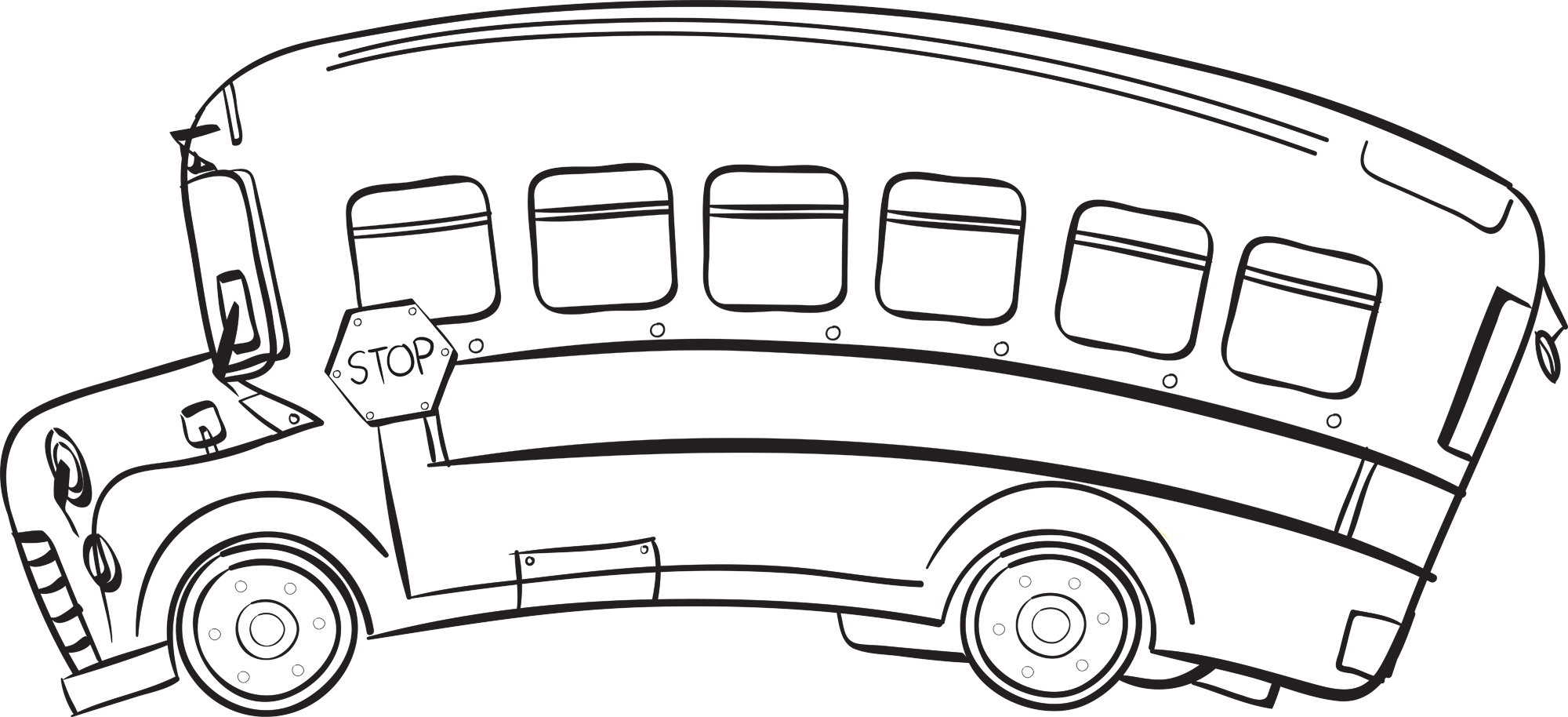 School Bus Black And White School Bus Clipart Black And