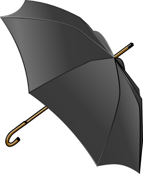 Umbrella Clipart : umbrella, clipart, Umbrella, Black, White, Vector, Office, Drawing, WikiClipArt