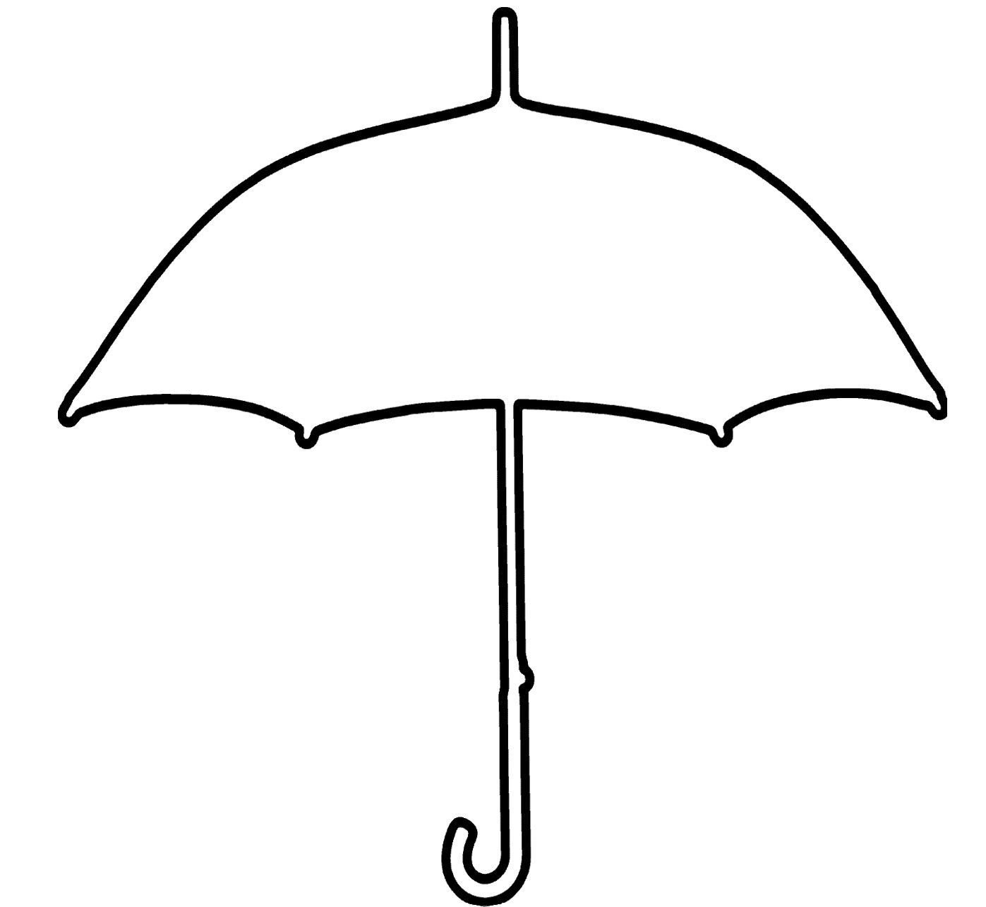 Umbrella Black And White Photos Of Umbrella Outline Clip Art Black