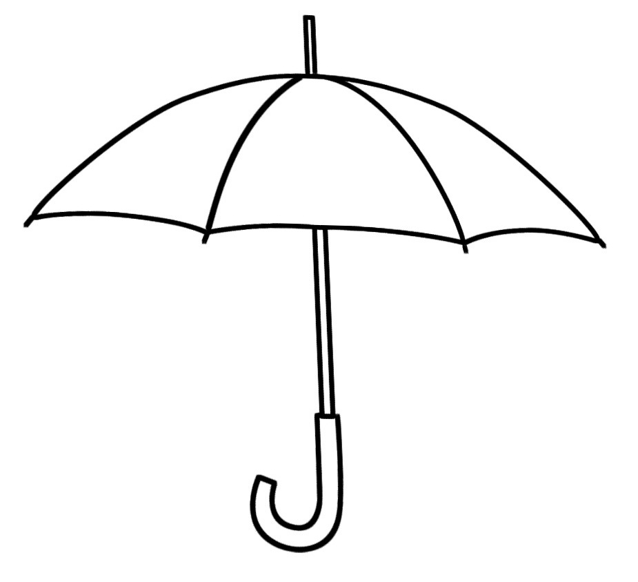 Umbrella black and white umbrella clipart black and white