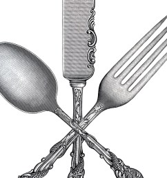 free fork spoon knife clip art the graphics fairy [ 1394 x 1156 Pixel ]