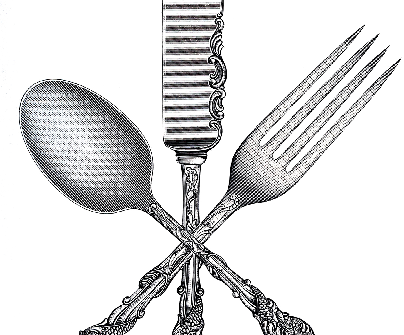 hight resolution of free fork spoon knife clip art the graphics fairy