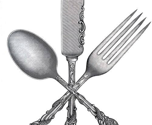 small resolution of free fork spoon knife clip art the graphics fairy