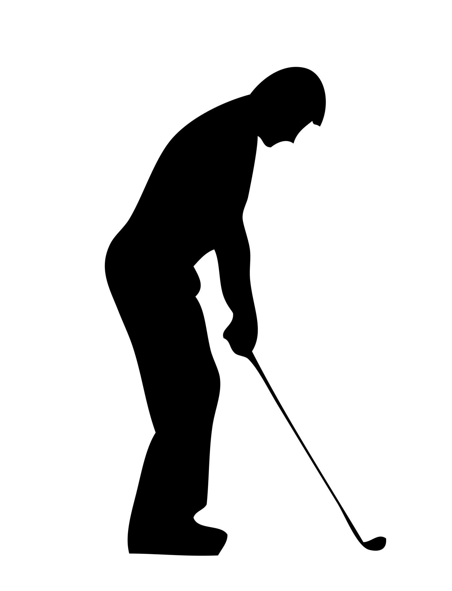 hight resolution of golf silhouette clipart 3