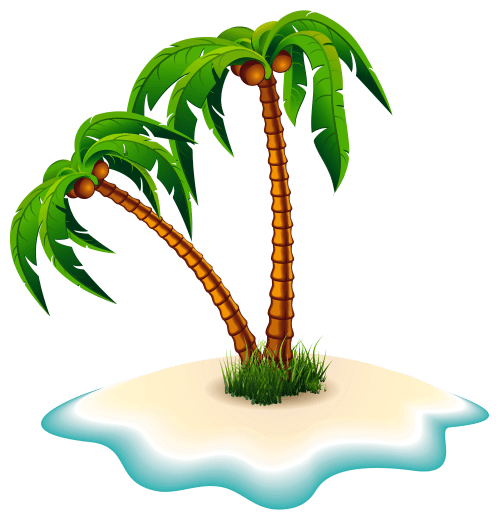small resolution of palm trees and island clipart image
