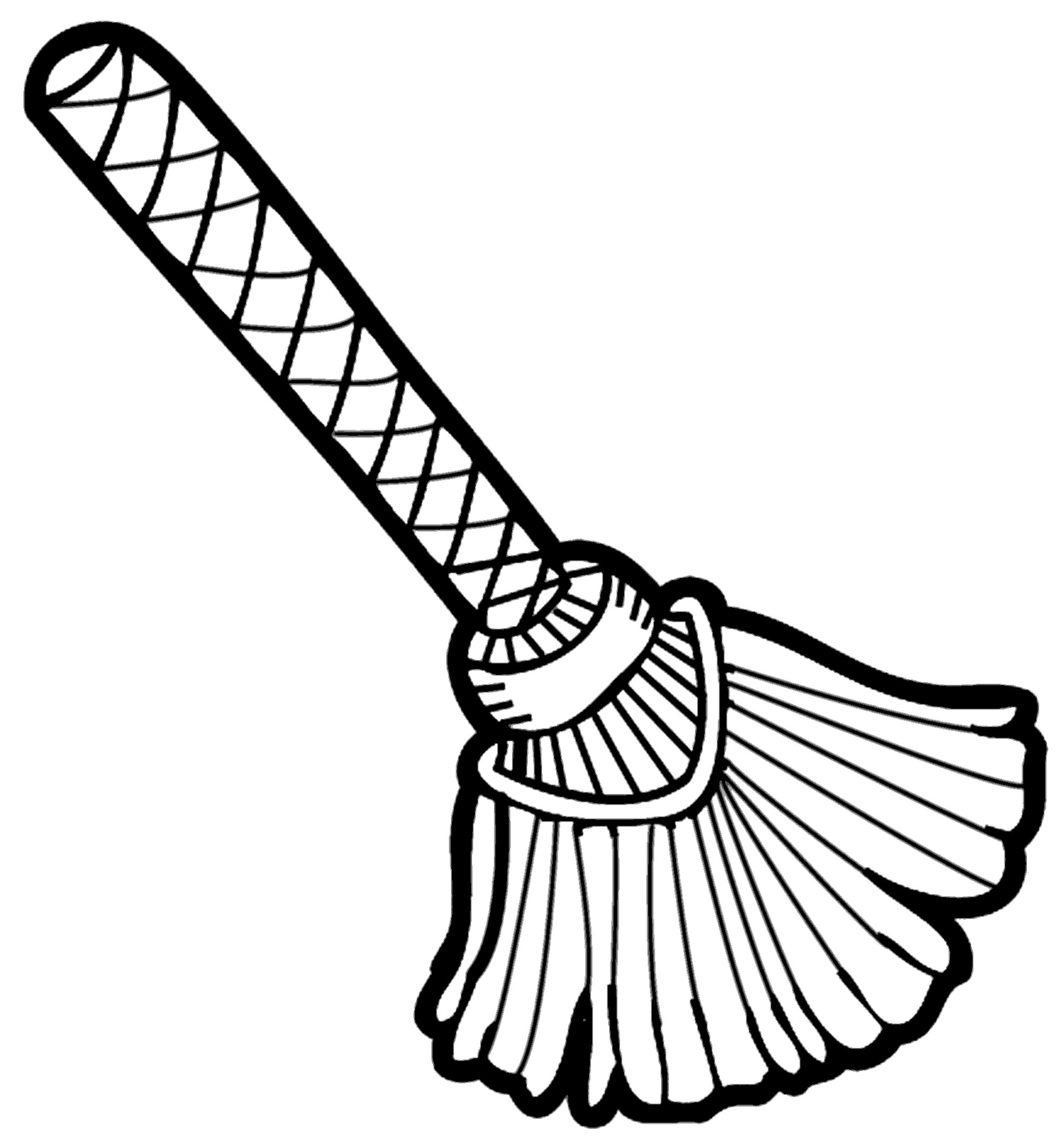 Broom Clipart Black And White Free Images 6