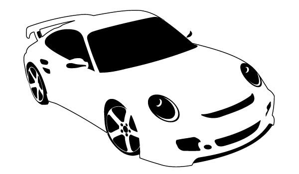 car black and white race
