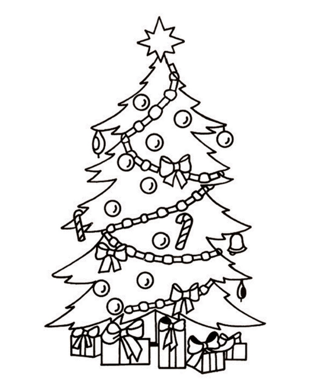 Christmas Tree Black And White Christmas Tree Clipart