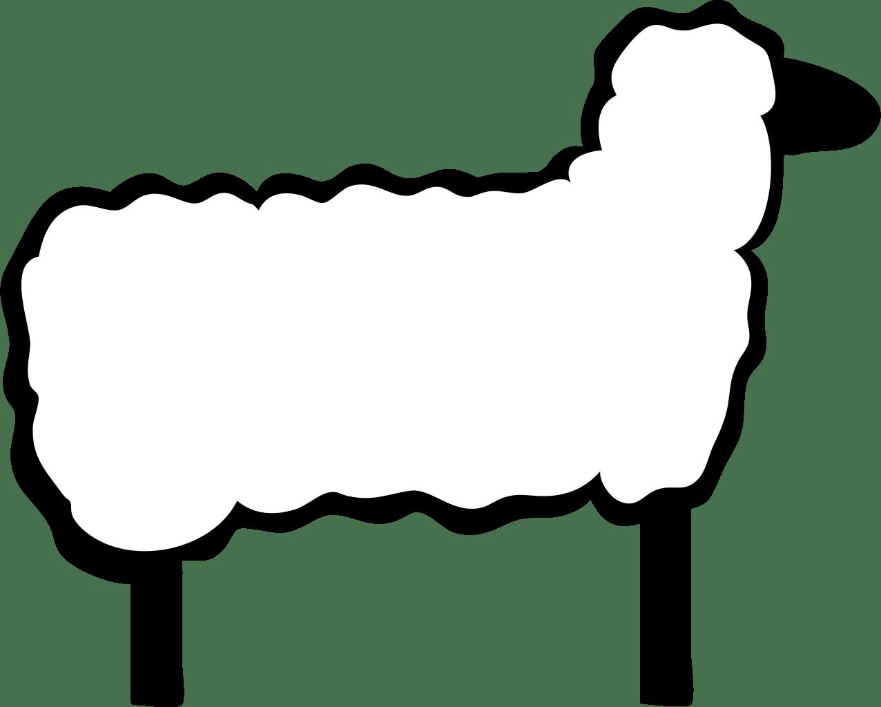 Sheep Black And White Sheep Clipart Black And White Free
