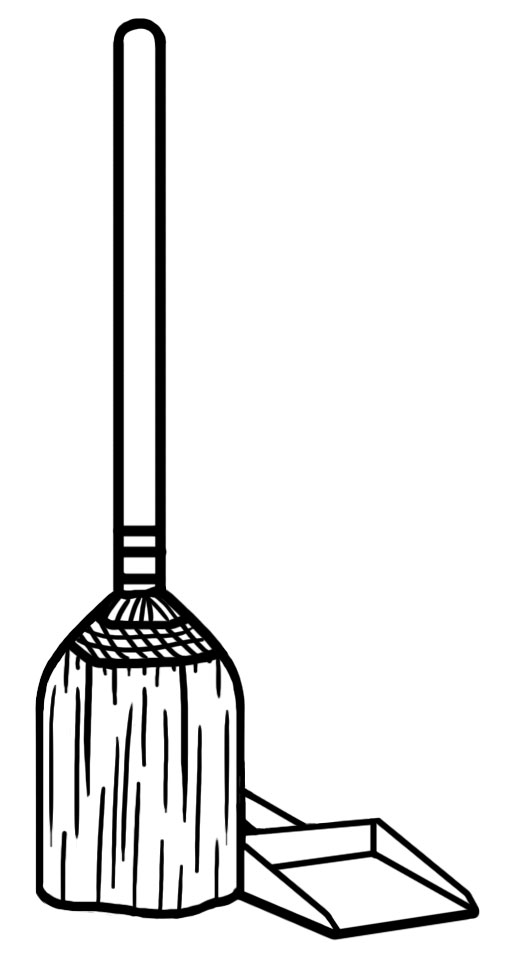 Broom Clipart Black And White : broom, clipart, black, white, Sweeping, Broom, Clipart, WikiClipArt