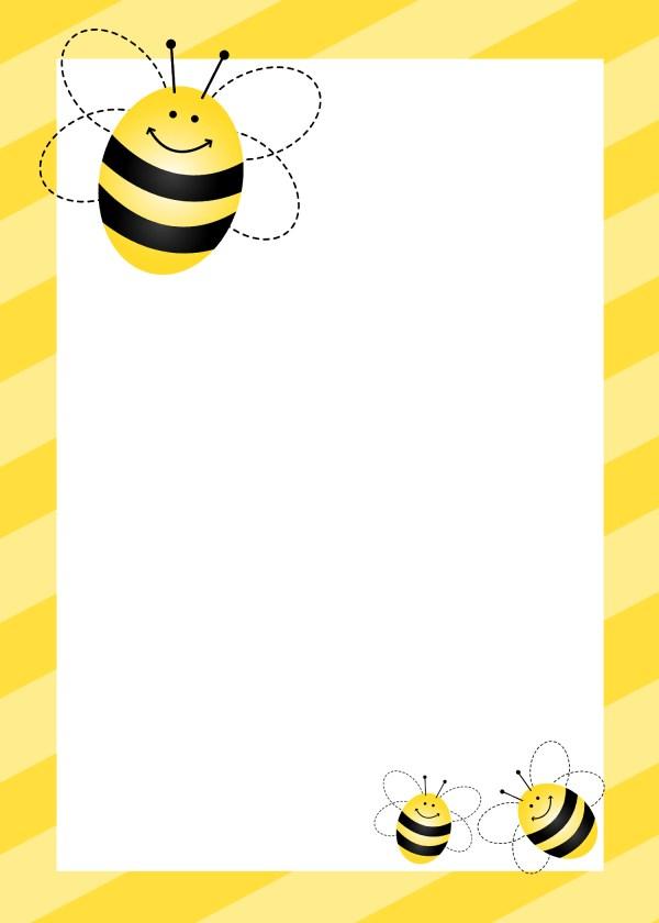 Free Printable Bumble Bee Border
