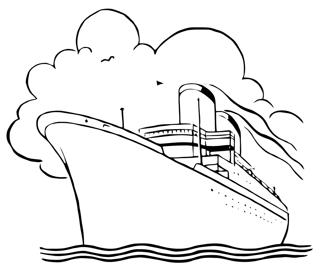 Boat Black And White Cruise Ship Black And White Clipart