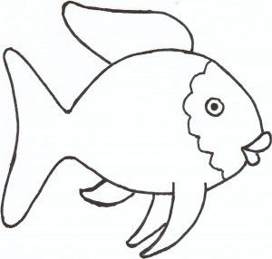 Fish outline ideas about fish template on rainbow fish