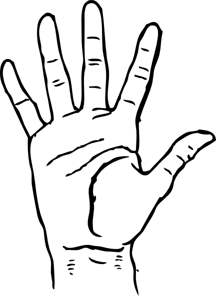 Hand black and white hands clipart black and white free
