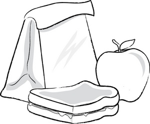 Lunch box suitcase clip art black and white lunch clipart