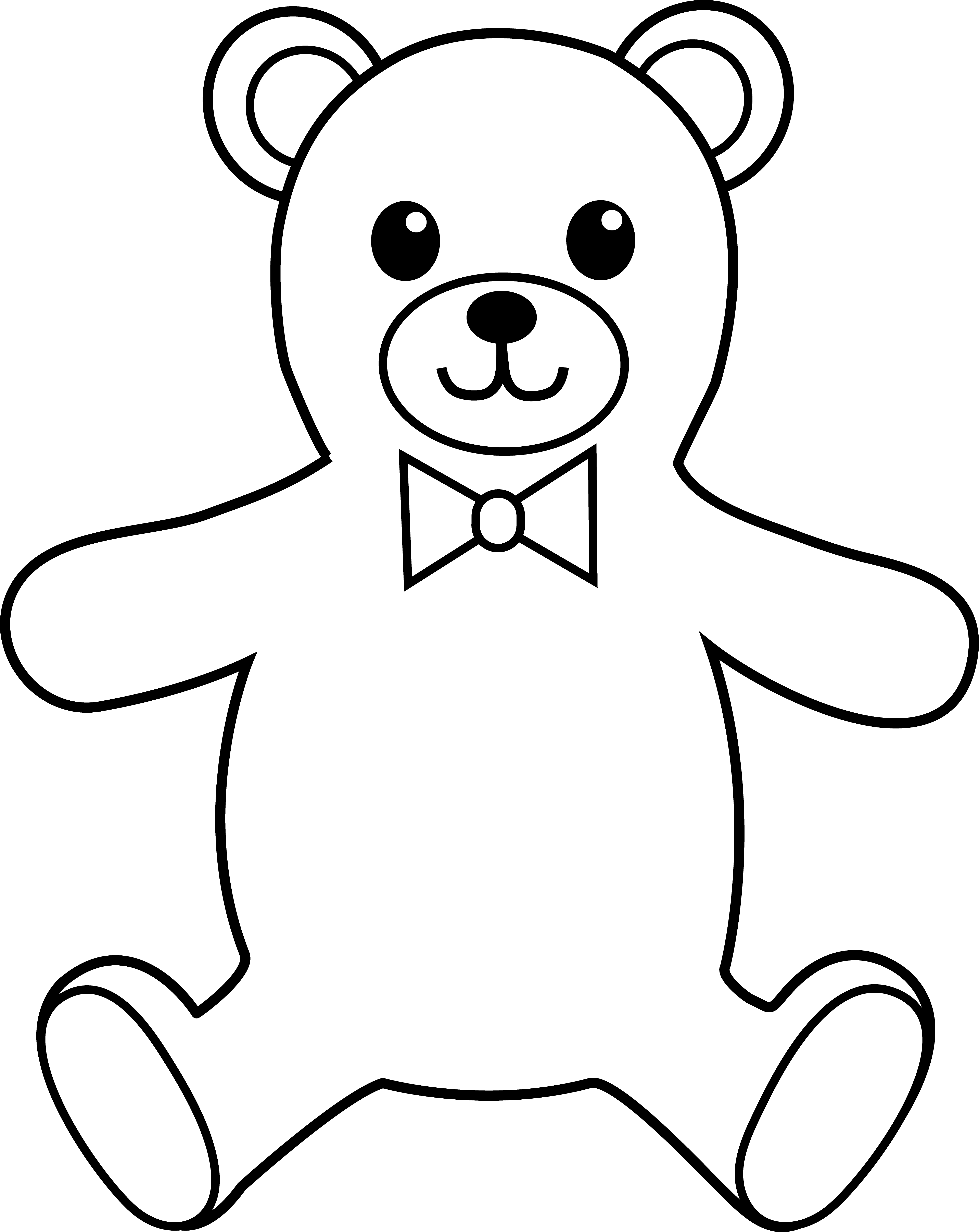 Teddy Bear Black And White Teddy Bear Black And White Free
