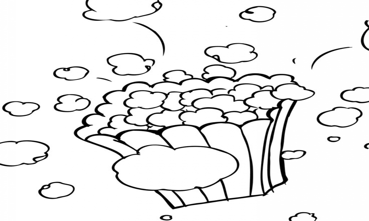 How To Draw Popcorn Kernels
