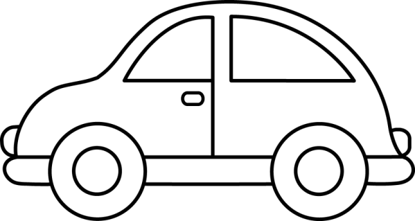 toy car clip art black and white