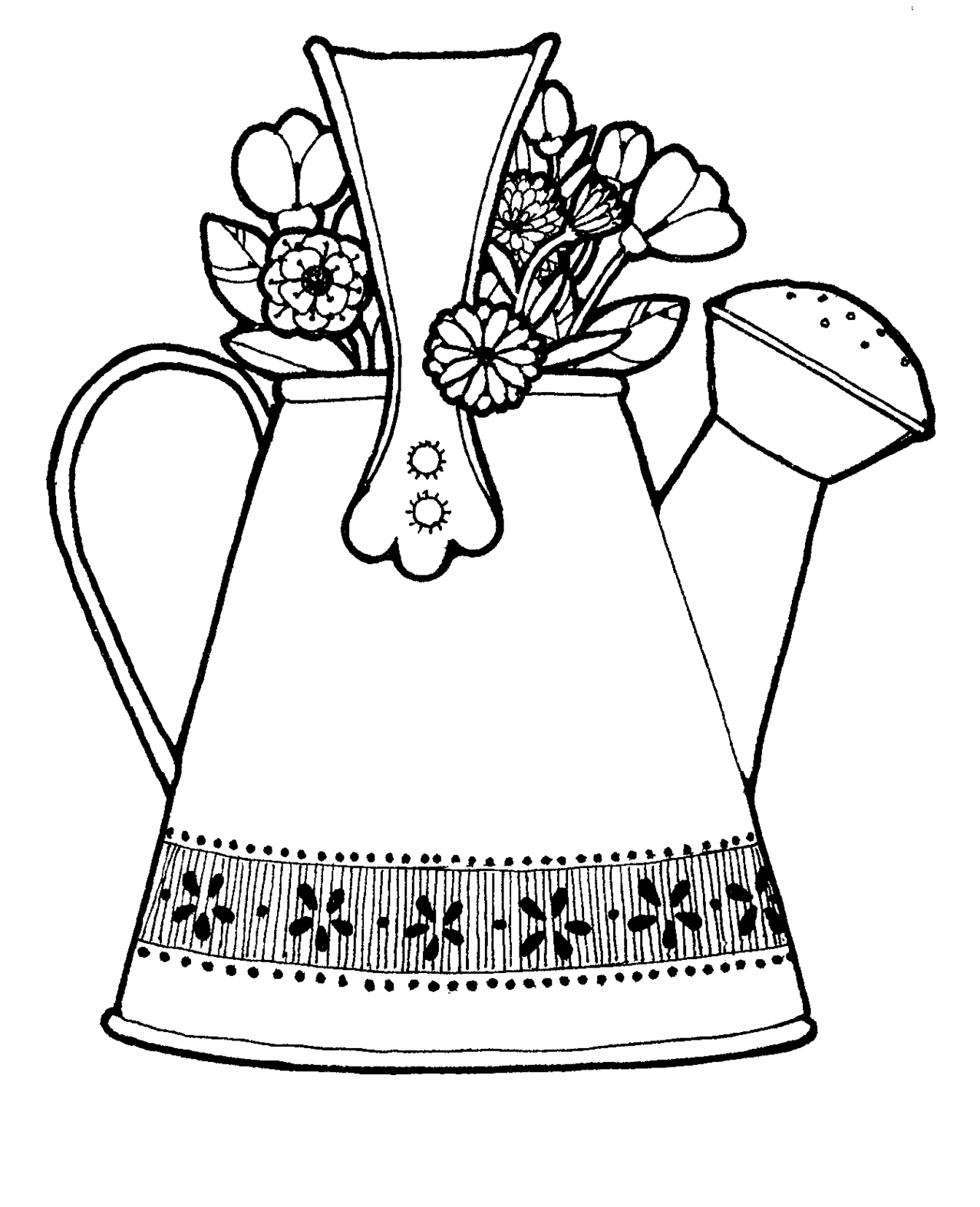 Watering Can Illustration Clipart