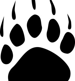bear claw grizzly bear paw print clipart free images 3 [ 1250 x 1623 Pixel ]