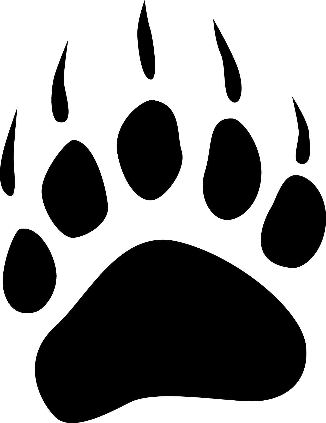 hight resolution of bear claw grizzly bear paw print clipart free images 3